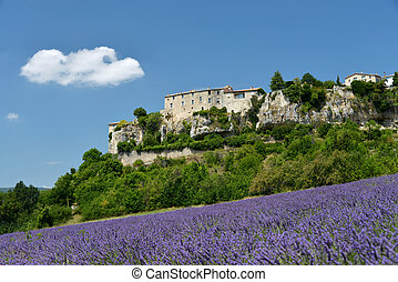 Sault in Provence, France - little Town Sault in Provence,...