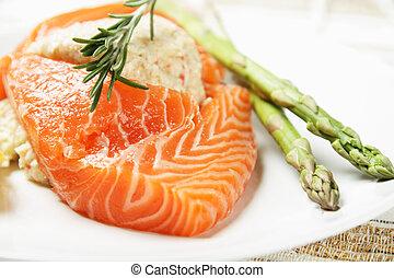 saumon, bourré