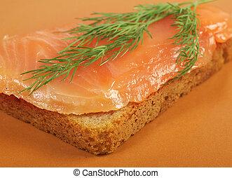 saumon fumé, canapes