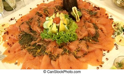saumon, restauration