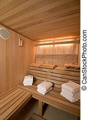 sauna, construit, coutume