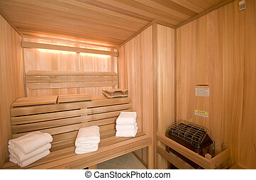 sauna, costumbre, construido