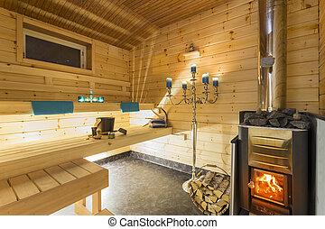 int rieur sauna int rieur finlandais sauna. Black Bedroom Furniture Sets. Home Design Ideas
