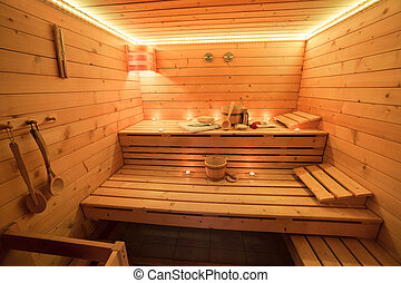int rieur accessoires sauna wellness sauna photo de stock rechercher images et clipart. Black Bedroom Furniture Sets. Home Design Ideas