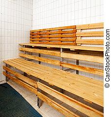 bois int rieur murs bancs sauna. Black Bedroom Furniture Sets. Home Design Ideas