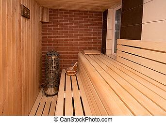 Int rieur accessoires sauna wellness sauna photo de for Sauna interieur