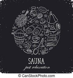 sauna poster template - Sauna relaxation poster. Sauna...