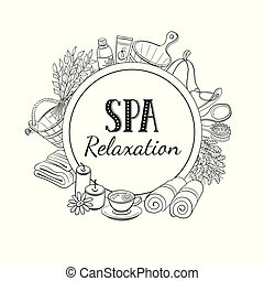 sauna poster template - SPA relaxation poster. Sauna...