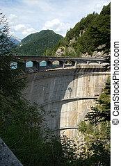 Sauris Dam - Friuli Venezia Giulia Italy - Dam of Sauris...
