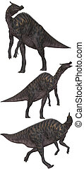 Saurolophus lived in North America and Asia - isolated on...