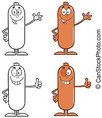 Sausage Character 1. Collection Set
