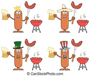 Sausage Character 3. Collection Set