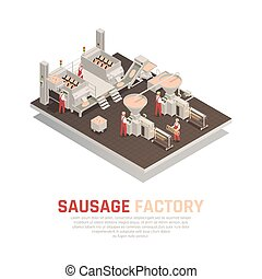 Sausage Factory Isometric Composition
