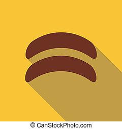 Sausage icon, flat style