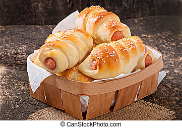 sausage in the dough