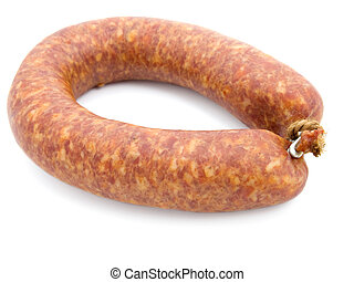 sausage isolated on white