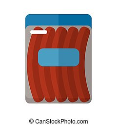 Sausage package flat icon