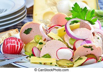 Sausage salad