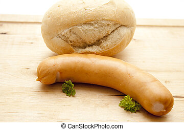 Sausage with Bread roll