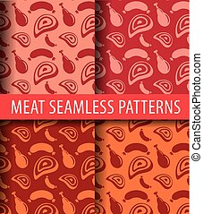 sausages and meat patterns