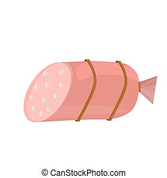 sausages icon in flat style isolated vector illustration on white background