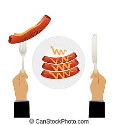 Sausages on a plate.