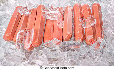 Sausages With Ice Cubes