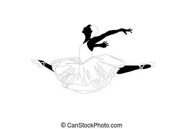 saut, ballerine