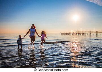saut, fils, mer, elle, mère