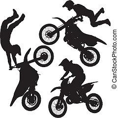 saut, motocross