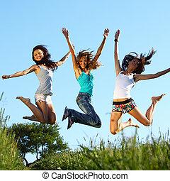 saut, petites amies