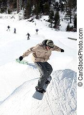saut, snowboard