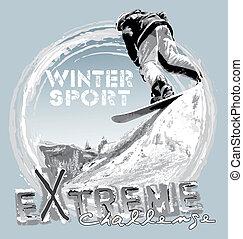 saut, snowboard, gratuite