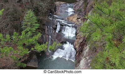Sautee GA waterfall depth of field