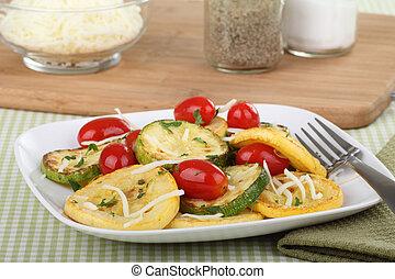 Sauteed Summer Squash - Sauteed zucchini and yellow squash...