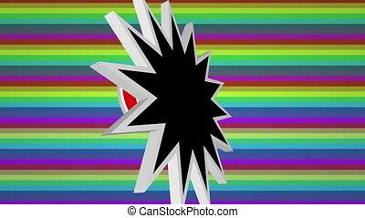 sauter art, fond, comique, 2020, coloré, contre