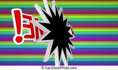 sauter art, fond, comique, texte, coloré, impressionnant, ...