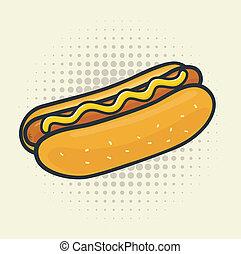 sauter art, hot-dog