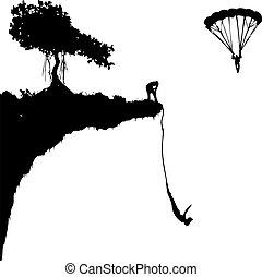 sauter, extrême