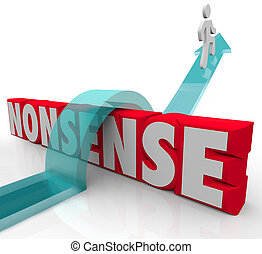 sauter, signification, absurdité, sur, mot, commun, illogical, vs