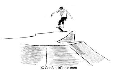 sauter, skateboard