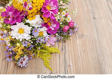 sauvage, été, fleurs