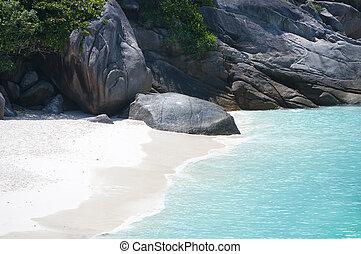 sauvage, côte, similan, îles