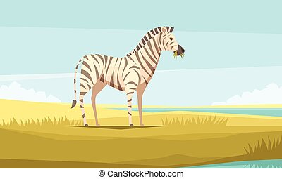 sauvage, composition, zebra