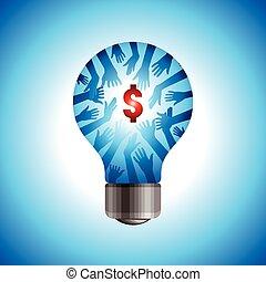 sauver, énergie, concept