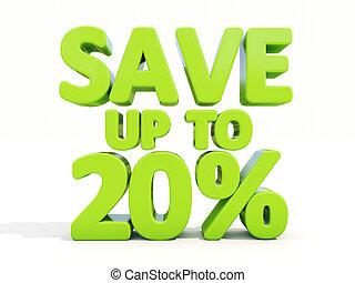sauver, 20%, haut