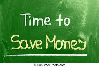 sauver, concept, temps, argent