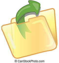 sauver, fichier, icône