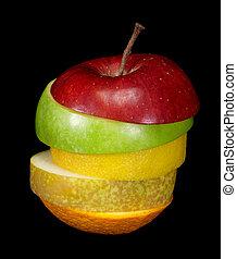 sauver, fruit, comp, téléchargement, composite, lightbox