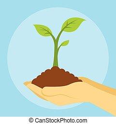 eau la terre plante sauver th me plante illustration vecteur search clip art. Black Bedroom Furniture Sets. Home Design Ideas
